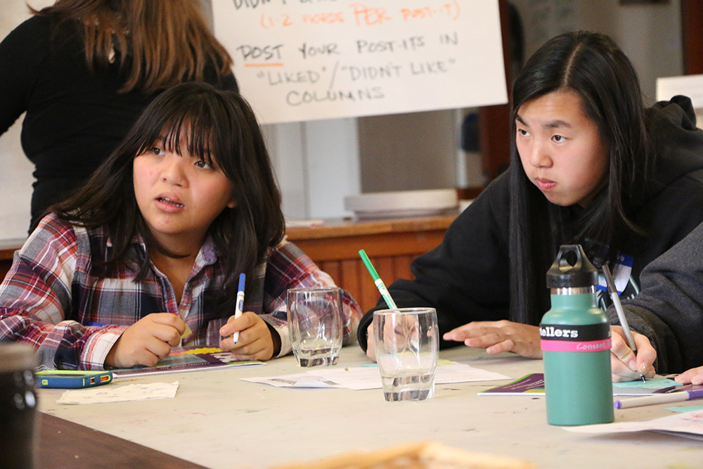 Sophia shares her camp experiences with the Youth Advisory Council, 2014