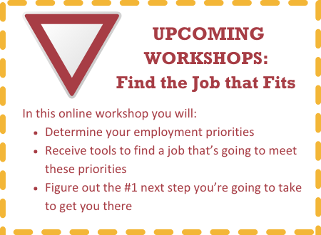 Upcoming Workshop: Find the Job That Fits
